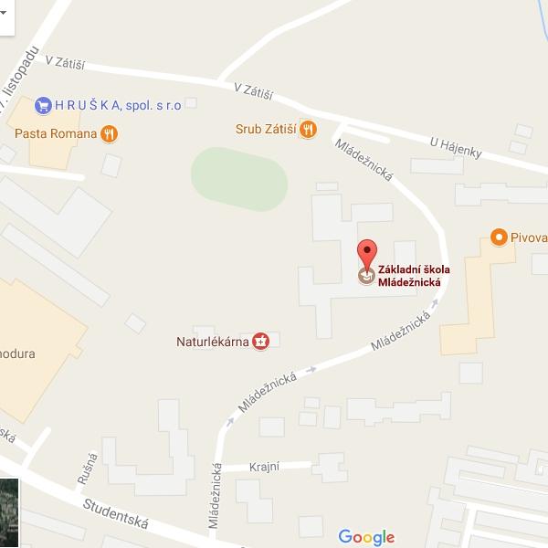 Mapy - ZŠ Mládežnická